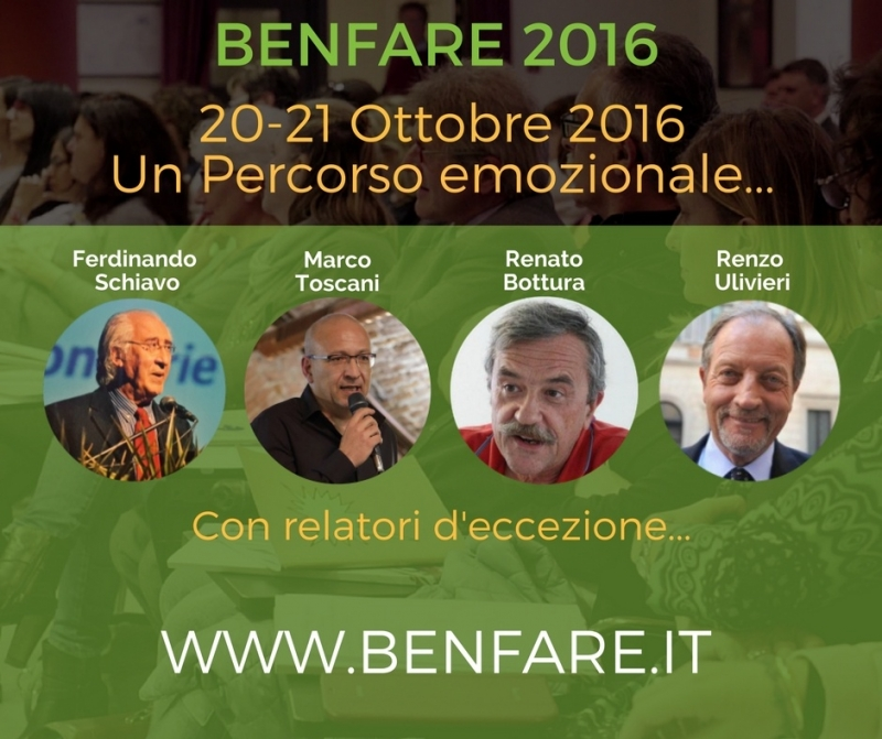 Benfare 2016 – 21 ottobre: La plenaria emozionale